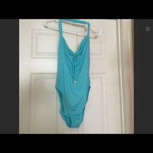 Victoria's Secret bathing suit one piece turquoise